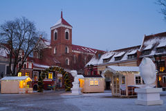 Kaunas city hall square in Christmas time, Lithuania Stock Photography