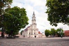 Kaunas City Hall Square, Lithuania Royalty Free Stock Photography