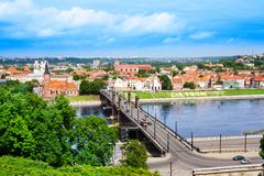 Kaunas cityscape Royalty Free Stock Photo