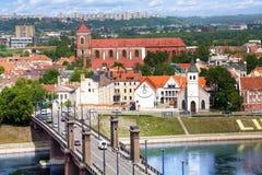 Kaunas downtown panorama Royalty Free Stock Images