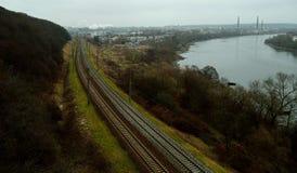 Kaunas-Eisenbahn lizenzfreie stockbilder