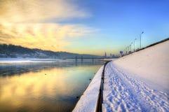 Kaunas embankment Royalty Free Stock Photo