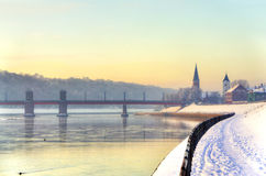Kaunas embankment Royalty Free Stock Images