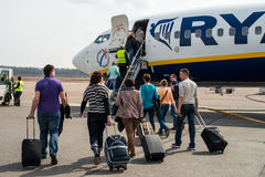 Kaunas flygplats. Flyglogi Royaltyfria Foton