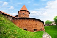 Kaunas fort. Old fort and the only remaining Tower of castle in town on the west of Lithuania Stock Photos