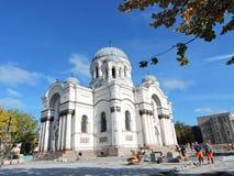Kaunas grodzki kościół, Lithuania obraz royalty free