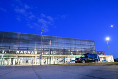 Kaunas International Airport at night, Lithuania Royalty Free Stock Photography