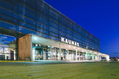 Kaunas International Airport at night, Lithuania Royalty Free Stock Images
