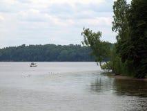 Kaunas kunstmatige overzees - Nemunas-rivierwaterkering Royalty-vrije Stock Afbeeldingen