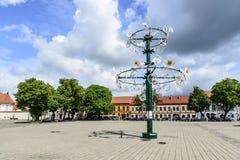 Kaunas Litauen, Europa, stadshusfyrkant Fotografering för Bildbyråer