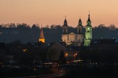 Kaunas (Litauen) gammal stad Arkivbilder