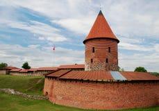 Kaunas Litauen - Juni 26, 2018: Sikt av den Kaunas slotten, den medeltida förstärkta slotten royaltyfria foton