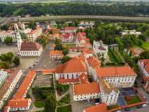 Kaunas, Lithuania: aerial top view of Old Town Royalty Free Stock Photography