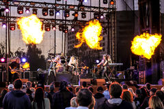 Kaunas, Lithuania - June 04, 2016: sympho-rock band Symphomania Royalty Free Stock Photography
