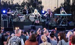 Kaunas, Lithuania - June 04, 2016: sympho-rock band Symphomania. Stock Image