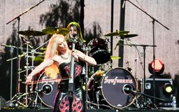 Kaunas, Lithuania - June 04, 2016: sympho-rock band Symphomania. Royalty Free Stock Images