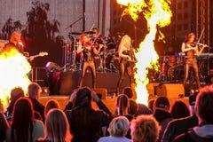 Kaunas, Lithuania - June 04, 2016: sympho-rock band Symphomania. Stock Images