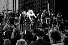 Kaunas, Lithuania - June 04, 2016: sympho-rock band Symphomania. Stock Photos
