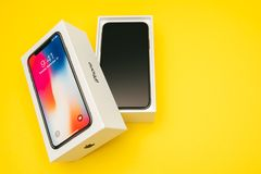 New Apple Iphone X flagship smartphone Royalty Free Stock Image