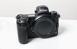 Nikon Z7 full-frame mirrorless camera stock image