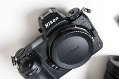 Nikon Z7 full-frame mirrorless camera stock photos