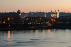 Kaunas (Lithuania) Old Town in the evening Royalty Free Stock Photography