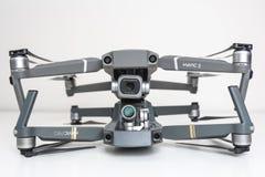 Compare two DJI drones - new Mavic 2 Pro and Mavic Pro. KAUNAS, LITHUANIA - SEPTEMBER 9, 2018: Compare two DJI drones - new Mavic 2 Pro and Mavic Pro. Placed on stock photo
