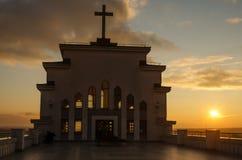 Kaunas, Lituânia: Basílica da ressurreição de Cristo, bazilika de Kristaus Prisikelimo Fotos de Stock