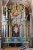 Kaunas, Lituânia - 12 de maio de 2017: basílica interna da catedral do interior de St Peter e de Paul, Kaunas Imagens de Stock
