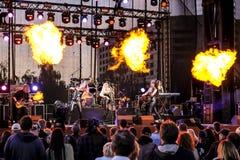 Kaunas, Lituania - 4 de junio de 2016: banda Symphomania de la sympho-roca Fotografía de archivo libre de regalías