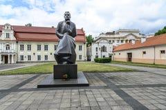 Kaunas, Lituania, Europa, quadrato del municipio Fotografie Stock Libere da Diritti