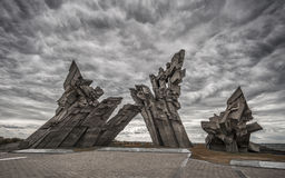 Kaunas Ninth Fort. The monuments at the Ninth Fort in Kaunas Lithuania Royalty Free Stock Images