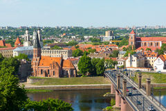 Kaunas old town day time landscape Royalty Free Stock Image