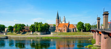 Kaunas old town day time landscape Royalty Free Stock Images