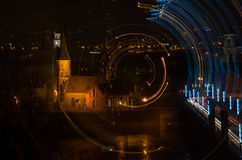 Kaunas old town at night royalty free stock photography