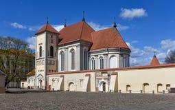 Kaunas Priest Seminary, Lithuania. Kaunas Priest Seminary. Church of Holy Trinity in Kaunas is a part of the seminary. Lithuania Stock Images