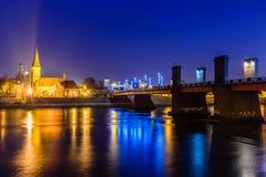 Kaunas przy nocą obraz royalty free