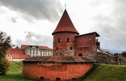 Kaunas-Schloss, errichtet während des Jahrhunderts mid-14 Stockbild