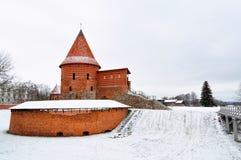 Kaunas-Schloss im Winter, Litauen Stockfotografie