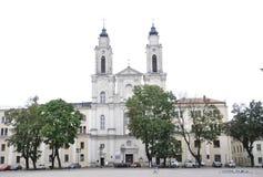 Kaunas Sierpień 21,2014-Church St Francis Xavier od Kaunas w Lithuania Fotografia Stock