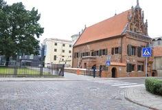 Kaunas Sierpień 21,2014-Perkuno dom od Kaunas w Lithuania Zdjęcia Royalty Free