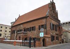 Kaunas Sierpień 21,2014-Perkuno dom od Kaunas w Lithuania Zdjęcie Stock