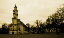 Kaunas square Royalty Free Stock Photo