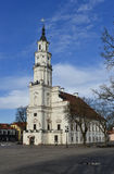 Kaunas town hall Lithuania. Kaunas old town square, town hall, Lithuania. The Town Hall is distinguished by its slenderness and grace Royalty Free Stock Photography