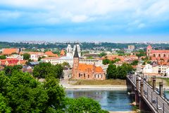 Kaunas town panorama Stock Images
