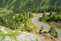 Kauner valley glacier road Stock Photos