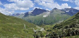 Kaunertaler Gletscherstrasse fotografía de archivo