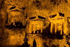 Kaunian rock tombs from Dalyan Royalty Free Stock Photo