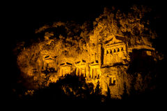 Kaunian rock tombs from Dalyan Stock Image