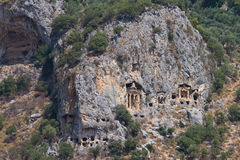 Kaunian rock tombs from Dalyan Stock Photo